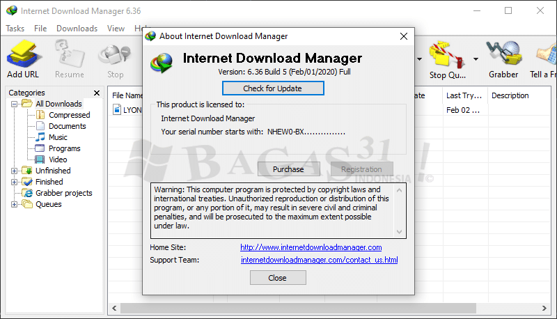 Download Internet Download Manager 6.36 Build 5 Full Version