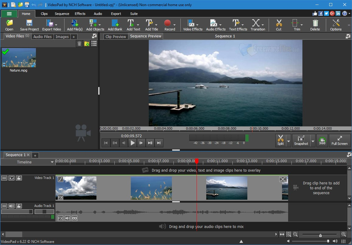 Software VideoPad 5.0 Video Editor Free Download